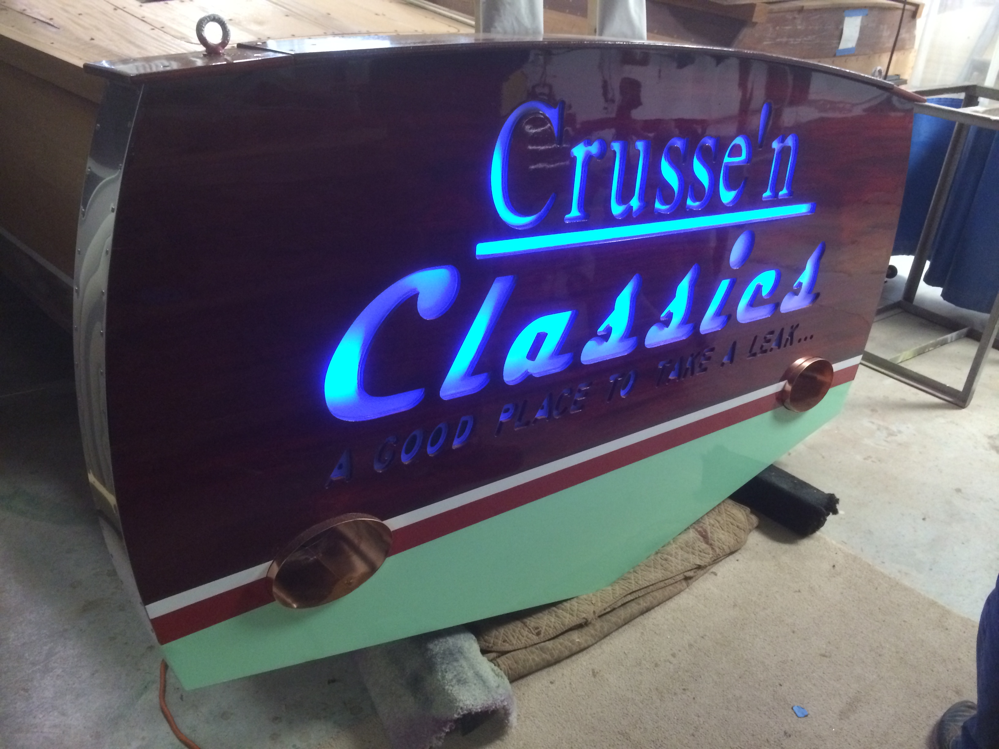 Crusse'n Classics wooden boat repair